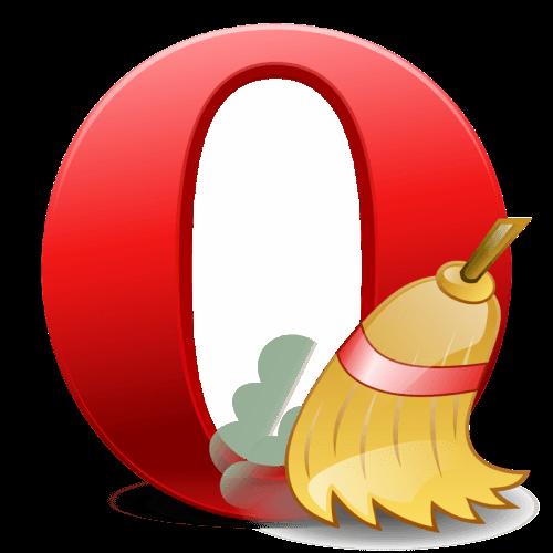 как почистить кеш в опере