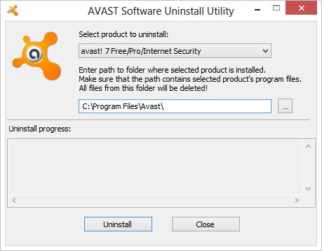Аswclear утилита для удаления Avast