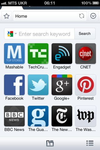 maxthon_iphone_home